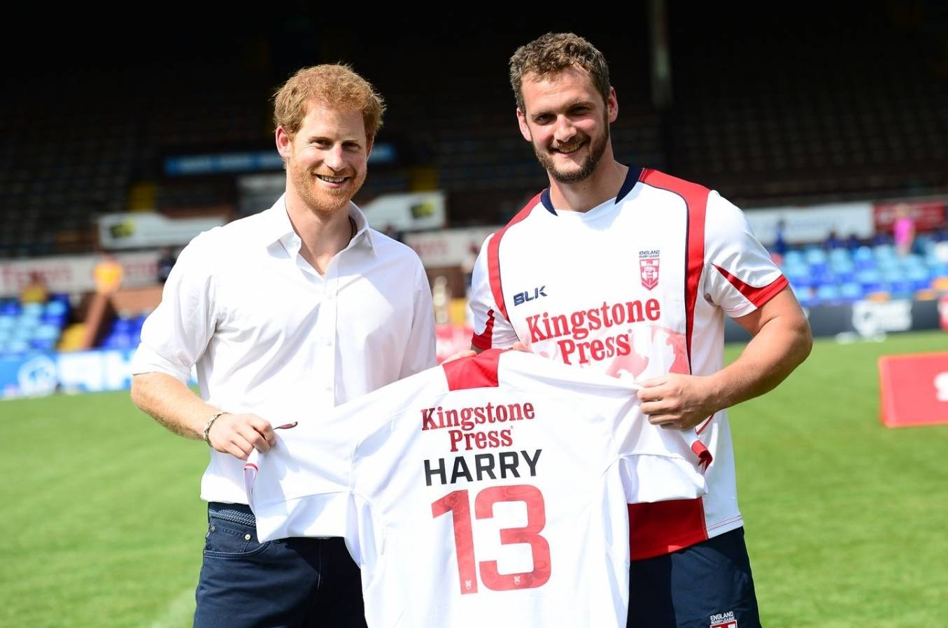 HRH Prince Harry attends Sky Try Rugby League Festival in Leeds
