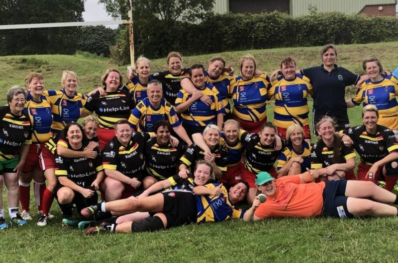 Leigh Miners Womens Masters take to the field