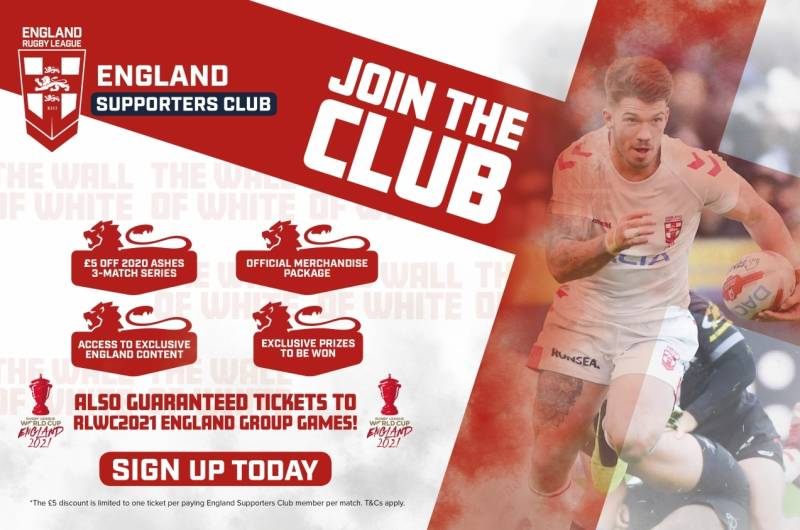 England Rugby League Supporters Club launched