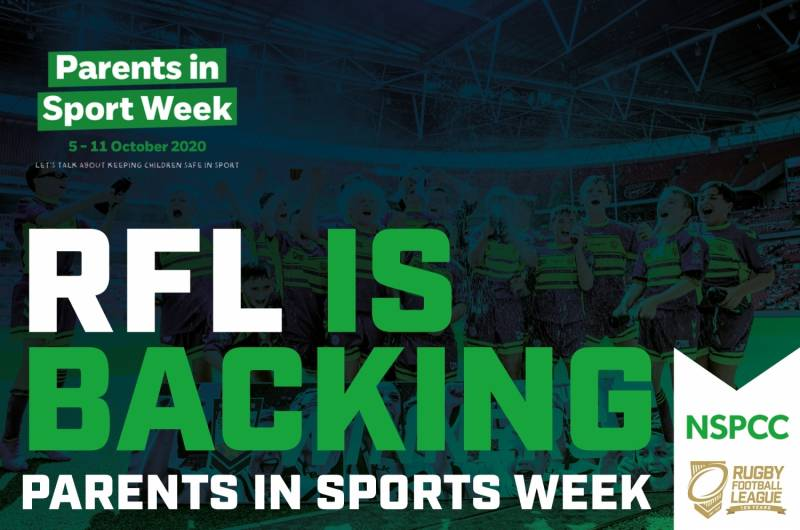 RFL backing Parents in Sport Week