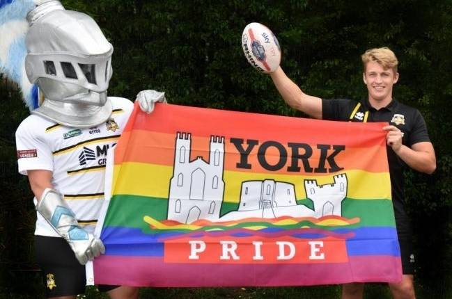 Knights supporting York Pride