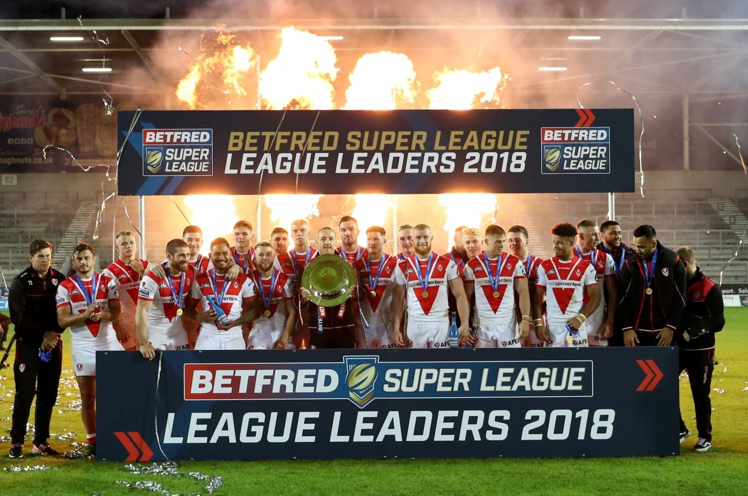 St Helens win the League Leaders' Shield